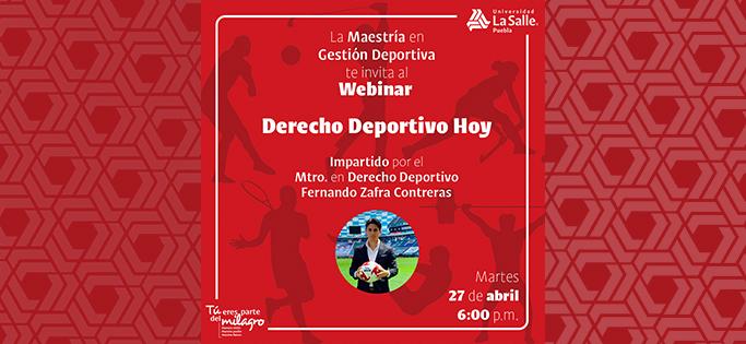 Webinar Derecho Deportivo